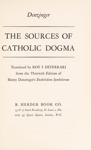 Cover of: The sources of Catholic dogma