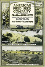 Cover of: Seed guide | American Field Seed Company