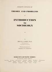 Cover of: Schaum's outline of theory and problems of introduction to sociology