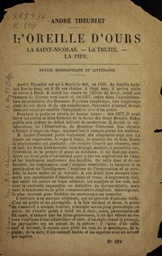 Cover of: L'oreille d'ours