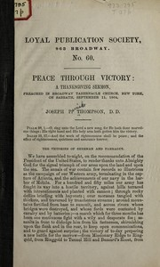 Cover of: Peace through victory