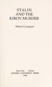 Stalin and the Kirov murder