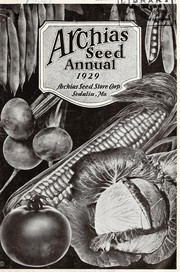 Cover of: Archias seed annual | Archias