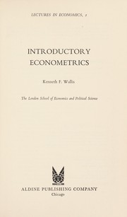 Cover of: Introductory econometrics