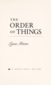 Cover of: The order of things