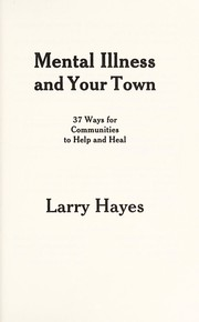 Cover of: Mental illness and your town