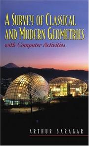 Cover of: Survey of Classical and Modern Geometries, A | Arthur Baragar