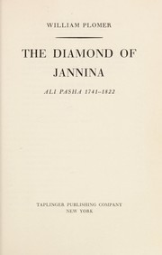 Cover of: The diamond of Jannina; Ali Pasha, 1741-1822