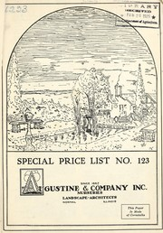 Cover of: Special price list | Augustine & Company