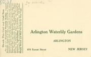 Cover of: Arlington Waterlily Gardens [price list] | Arlington Waterlily Gardens