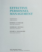 Cover of: Effective personnel management