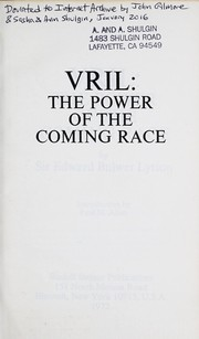 Cover of: Vril | Edward Bulwer Lytton
