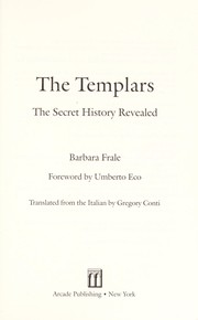 Cover of: The Templars