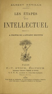 Cover of: Les etapes d'un intellectuel