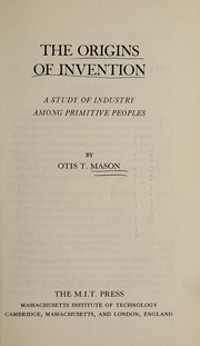 Cover of: The origins of invention