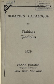 Berardis catalogue of dahlias, gladiolus