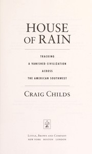 Cover of: House of rain