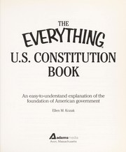 Cover of: The everything® U.S. Constitution book