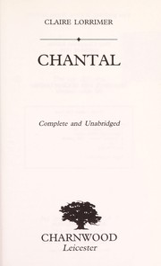 Cover of: Chantal