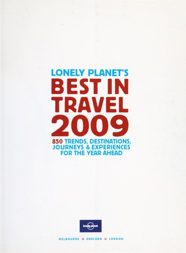 Lonely Planet's best in travel 2009 by