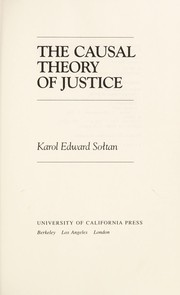 Cover of: The causal theory of justice