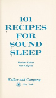 Cover of: 101 recipes for sound sleep