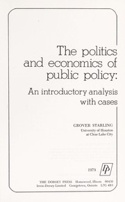 Cover of: The politics and economics of public policy