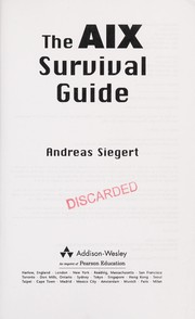 Cover of: The AIX survival guide | Andreas Siegert