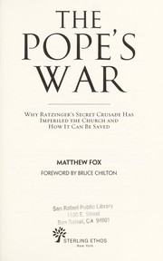 Cover of: The Pope's war