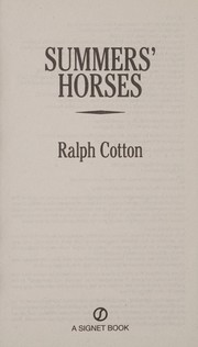 Cover of: Summers' horses