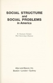 Cover of: Social structure and social problems in America