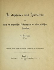 Cover of: Aristophanes und Aristoteles