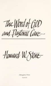 Cover of: The word of God and pastoral care