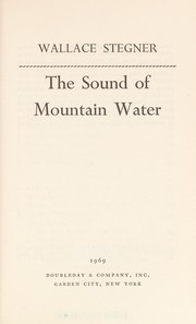 Cover of: The sound of mountain water