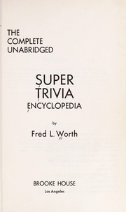 Cover of: Super trivia | Fred L. Worth