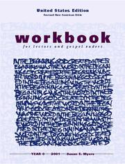 Cover of: Workbook for Lectors and Gospel Readers for Year C, 2001 | Susan Myers