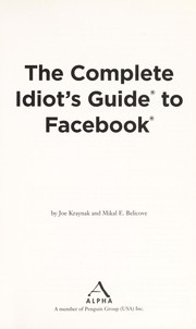 Cover of: The complete idiot's guide to Facebook