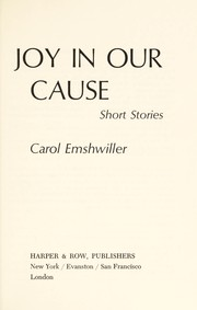 Cover of: Joy in our cause; short stories