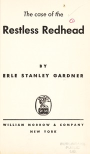 Cover of: The case of the restless redhead