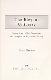 Cover of: The elegant universe | Brian Greene