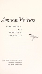 Cover of: American warblers | Douglass H. Morse
