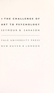 Cover of: The challenge of art to psychology