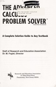 Cover of: The Advanced calculus problem solver