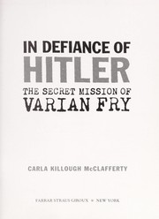 Cover of: In defiance of Hitler