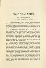 Cover of: Some pecan notes