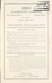 Cover of: Retail price list of choice northern grown gladiolus bulbs