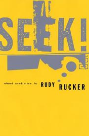 Cover of: Seek! Selected Nonfiction
