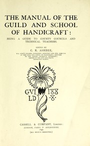 Cover of: The manual of the Guild and School of Handicraft