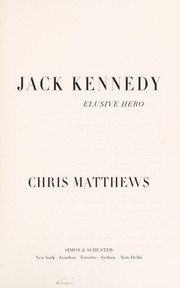 Cover of: Jack Kennedy | Matthews, Christopher