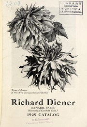 Cover of: 1929 catalog | Richard Diener (Firm)